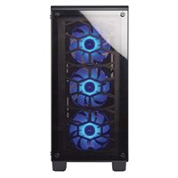 Corsair Crystal 460X RGB ATX Mid-Tower Computer Case Open-Box – Black