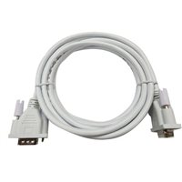 Inland VGA Male to VGA Male Cable 10 ft. - White