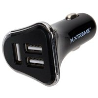 Xtreme Cables 3 Port USB Type-A 4amp Car Charger - Black