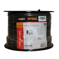 Inland CAT 6 Bulk Cable 250 ft. - Black