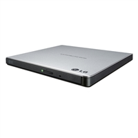 LG 8X Ultra Slim Dual Layer Super Multi External DVD Burner Silver