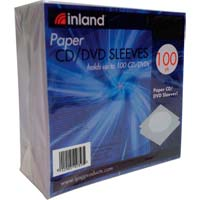 Inland Paper CD/DVD Sleeves Multicolor 100 Pack