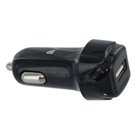 Inland 1-Port 2.4A/5V Car Charger-Black