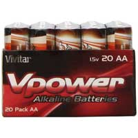Vivitar Alkaline AA Batteries V-20AA-ALK - 20 Pack