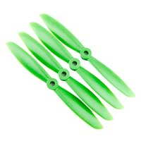Gemfan 6045 Nylon Propellers 2 x CW 2 x CCW - Green
