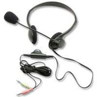 Inland Pro Headset 1000 w/ Microphone - Black