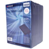 Inland 7mm Slim DVD Library Case 10 Pack
