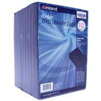 Inland 14mm DVD Double Library Case - 10 Pack