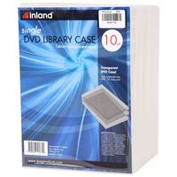 Inland 14mm Clear DVD Case 10 Pack
