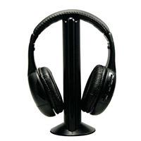 Sentry HW701 Wireless Headphones & Transmitter - Black