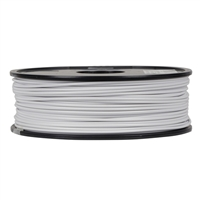 Inland 2.85mm White ABS 3D Printer Filament - 1kg Spool (2.2 lbs)