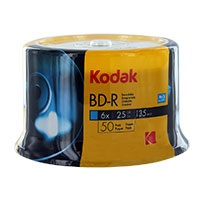 Kodak BD-R 6x 25GB Disc 50 Pack