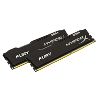 Kingston HyperX FURY 8GB 2 x 4GB DDR4-2400 PC4-19200 CL15 Single Channel Desktop Memory Kit