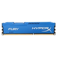 Kingston HyperX Fury Blue 4GB DDR3-1600 PC3-12800 CL10 Dual Channel Desktop Memory Module