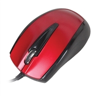 Inland USB Optical Mouse - Red