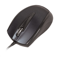 Inland Wired USB 2.0 Optical Mouse - Black