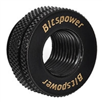 "Bitspower G 1/4"" Female to Female Pass Through Fitting - Matte Black"