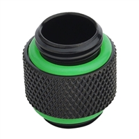 """Bitspower G 1/4"""" Male to Male Adapter Fitting - Matte Black"""