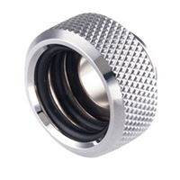 "Bitspower G 1/4"" Straight Compression Fitting - Silver"