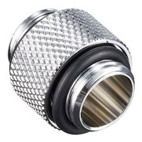 "Bitspower G 1/4"" Male to Male Fitting - Silver"