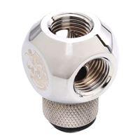 "Bitspower G 1/4"" Q-Rotary Swivel Adapter Fitting - Silver"
