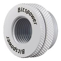 """Bitspower G 1/4"""" Case Top Fill Port - Deluxe White"""