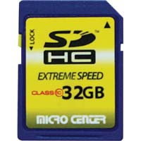 Micro Center 32GB SDHC Class 10 Flash Memory Card