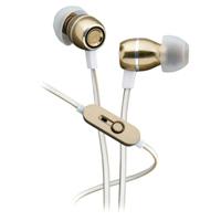 iHome Metal Earbuds w/Mic - White