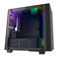 NZXT H400i RGB mATX Mini-Tower Computer Case - Matte Black