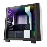 NZXT H400i RGB mATX Mini-Tower Computer Case - Matte White