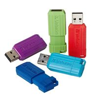 Verbatim 8GB PinStripe USB Flash Drive 5 Pack, Assorted Colors