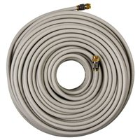 RCA Coax Male to Coax Male RG6 Digital Quad Shield Cable 100 ft. - Beige