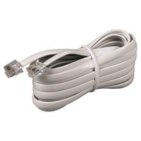 Audiovox Electronics RJ-11 Male to RJ-11 Male Telephone Cable 15 ft. - White