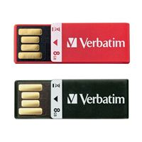 Verbatim 8GB Clip-it USB Flash Drive 2 Pack, Assorted Colors