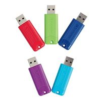 Verbatim 16GB PinStripe USB 3.0 Flash Drive 2 Pack, Blue/Green