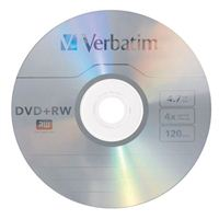 Verbatim DVD RW 4.7GB 4X with Branded Surface - 10 Pack