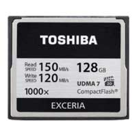 Toshiba 128GB Exceria 1000x Compact Flash Memory Card CF