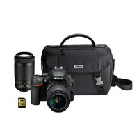 Nikon D5600 24.2 Megapixel Digital SLR Camera Kit with 18-55mm and 70-300mm Lens