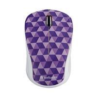 Verbatim Wireless Notebook Multi-Trac Blue LED Mouse - Purple Diamond