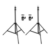 Neewer 2 Pack 75 in. Adjustable Light Stands and Ball Head Hot Shoe Adapters
