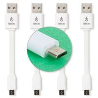 Limitless Innovations Micro-USB (Type-B) Male to USB 2.0 (Type-A) Male Sync/Charge Cable (4-pack) 3.5 in. - White