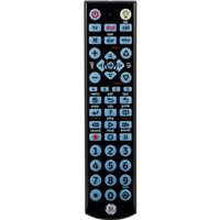 GE Universal LED Backlit Remote Control, 4 Device Infrared