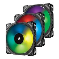 Corsair ML120 Pro RGB Magnetic Bearing 120mm Case Fan with Lighting Node Pro - Triple Pack