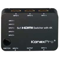 KanexPro 5x1 HDMI Switcher with 4K Support