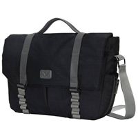 "Hynes Eagle Messenger Bag fits Screens up to 14"" - Black"