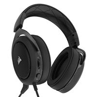Corsair HS50 Stereo Gaming Headset - Black