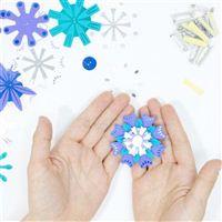 TechnoChic DIY Light-Up Flashy Flowers Kit - Blues (Blue, White, Teal)