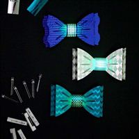 TechnoChic DIY Light-Up Blinky Bow Ties Kit - Blues (Blue, White, Teal)