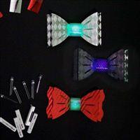 TechnoChic DIY Light-Up Blinky Bow Ties Kit- Formal (Red, White, Black)