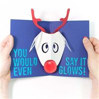 TechnoChic DIY Light-Up Pop-Up Card Kit - Rudolph